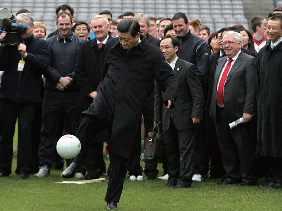 China aims to become football superpower by 2050
